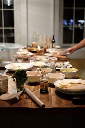 Family Dinner Empty Table