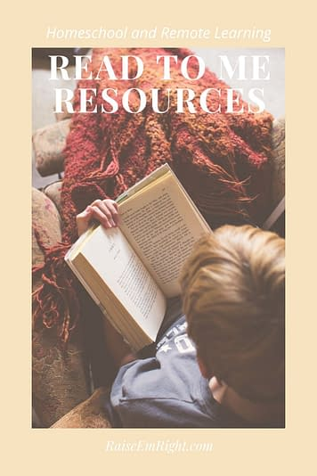 Read to Me Remote Learning Resources